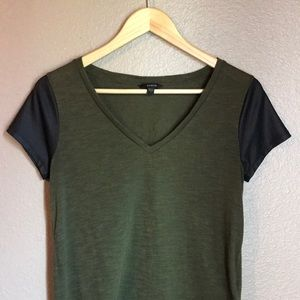 GUESS - Army Green V Neck